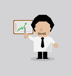 Businessman presenting the success chart vector
