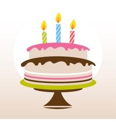 Color birthday cake vector