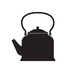 Tea pot isolated vector