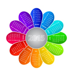 Calendar for 2015 year vector