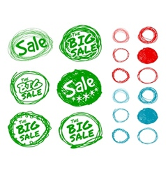 Hand-drawn forms for sale stickers vector