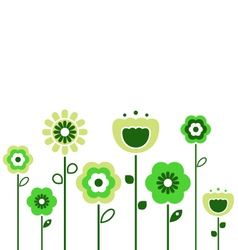 Retro spring flowers vector
