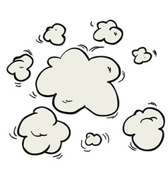 Freehand drawn cartoon steam clouds vector