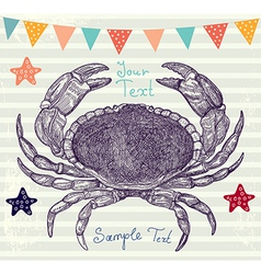 Crabs background vector