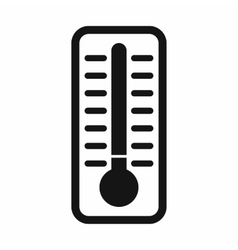 Cold thermometer icon simple style vector