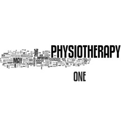 After physiotherapy text word cloud concept vector