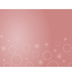 background with stars ball and lines vector image