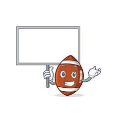 bring board american football character cartoon vector image