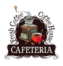 cafeteria logo design template fresh coffee or vector image
