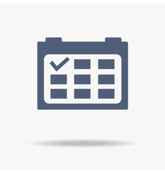 Calendar icon with point flat design vector image vector image