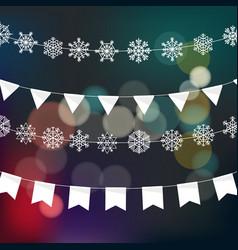 Christmas garland design template festive vector