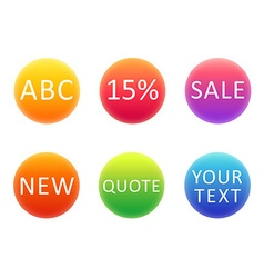 Colorful gradient circles template for your text vector image