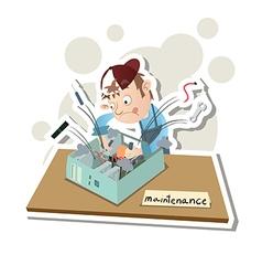 Computer technician vector