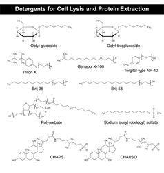 Detergents formulas for cell lysis vector