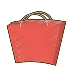 Drawing bag gift present vector