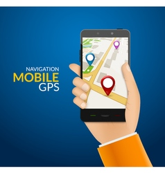 Gps phone navigation - mobile gps and tracking vector