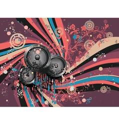 Grunge Loud Speaker vector image vector image