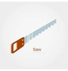 Hacksaw isometric vector image vector image
