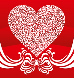 happy valentine background with decorative drops vector image
