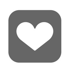heart icon best flat icon eps vector image