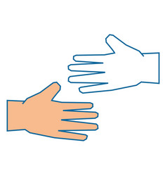 Isolated two hands vector