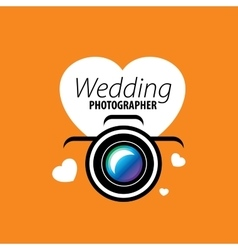 logo wedding photographer vector image vector image