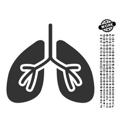 Lungs icon with professional bonus vector