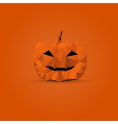 Polygonal halloween pumpkin vector