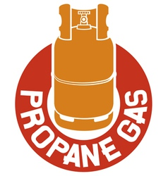 Propane gas label vector