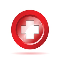 red cross sign vector image