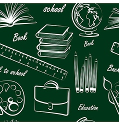school item seamless vector image vector image