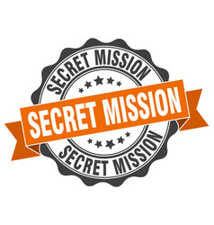 Secret mission stamp sign seal vector