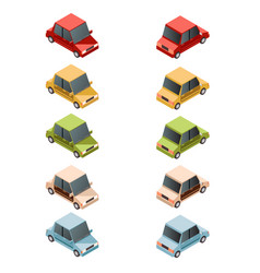 Set of isometric car icons2 vector