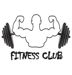 Set of vintage fitness emblems labels and design vector image vector image