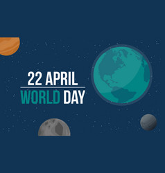 space style eartgh day vector image