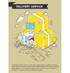 Template with of yellow boxes hourglass and vector