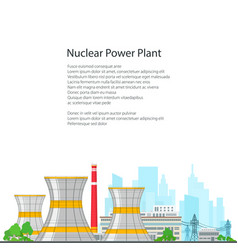Thermal power station on white background vector