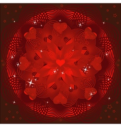 Valentines day background or card vector