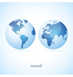 Vecrot globe set vector image