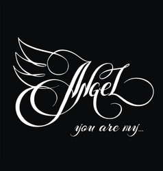 You are my angel 3 vector