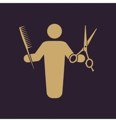 The barber avatar icon barbershop and hairdresser vector