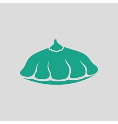 Bush pumpkin icon vector