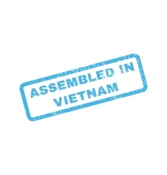 Assembled in vietnam rubber stamp vector