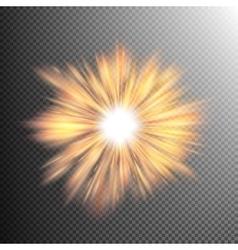Light effect stars bursts EPS 10 vector image