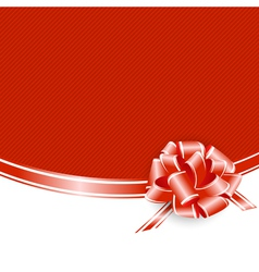 Red frame with ribbon bow vector