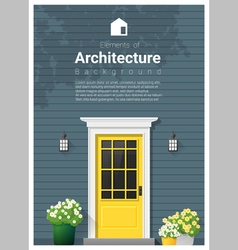 Elements of architecture front door background 12 vector