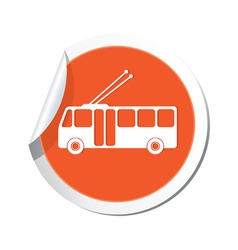 Trolleybus icon vector