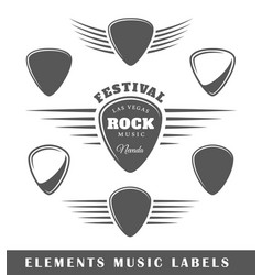 Templates for music labels vector
