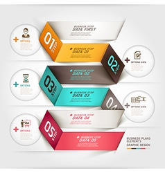 Business diagram origami template vector image