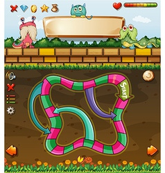 Maze game and monster vector